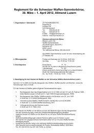 Reglement für die Schweizer Waffen-Sammlerbörse, 30. März – 1 ...
