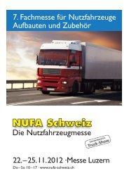 22.–25.11.2012 ·Messe Luzern 7. Fachmesse für Nutzfahrzeuge ...