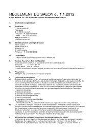 Reglement 2012 franzoesisch