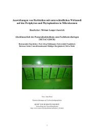 Auswirkungen von Herbiziden mit unterschiedlichen Wirkmodi auf ...