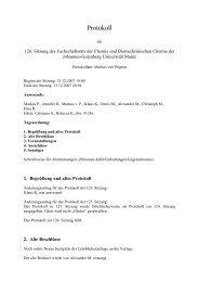 Protokoll - Fachschaft Chemie - Johannes Gutenberg-Universität ...