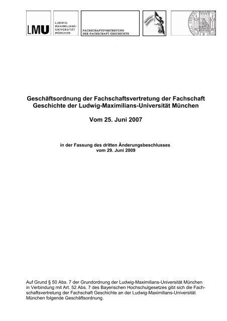 Vorlage Geschäftsbrief Mit Siegel Fachschaft Geschichte Der Lmu