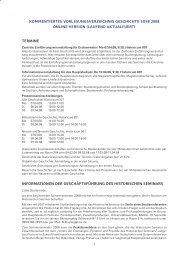Kommentiertes Vorlesungsverzeichnis Sommersemester 2008