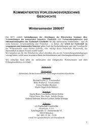 Wintersemester 2006/07 - Fachschaft Geschichte der LMU München ...