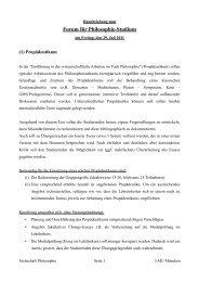 Handreichung der Fachschaft - Fachschaft Philosophie - LMU
