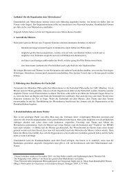 Leitfaden - Fachschaft Philosophie - LMU