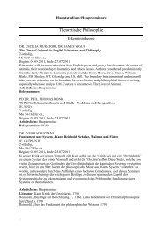 Theoretische Philosophie - Fachschaft Philosophie - LMU