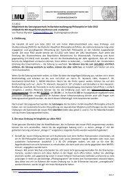 Infoblatt - Fachschaft Philosophie - LMU