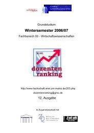 DOZ WS 0607 - bei der Fachschaft WiWi!