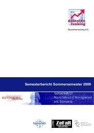 Dozentenranking: Sommersemester 2009 - bei der Fachschaft WiWi!
