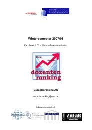 DOZ WS 0708 - bei der Fachschaft WiWi!