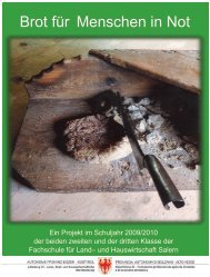 Brot für Menschen in Not - Fachschule für Land- und Hauswirtschaft ...