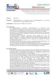 SaporiAlpini AlpenGenuss - Fachschule für Land- und ...