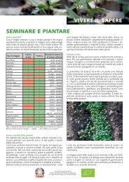 foglio informativo: seminare e piantare