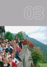 Am Beginn des neuen Weiterbildungsjahres 2009/10 steht