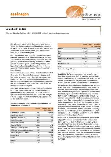 Credit Newsletter 2012-12-01 - Assenagon