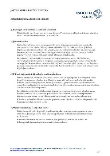 J-SP:n kilpailutoiminnan säännöt - Järvi-Suomen Partiolaiset