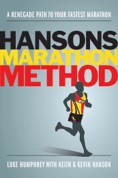 Hansons Marathon Method - VeloPress