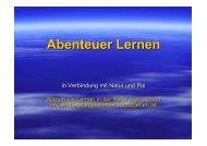 Vortrag KLL 2011 Abenteuer Lernen
