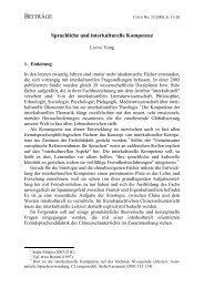 Sprachliche und interkulturelle Kompetenz - Fachverband ...