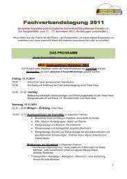 Fachverbandstagung 2011 - Fachverband Klang-Massage-Therapie ...