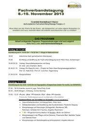 Fachverbandstagungsprogramm 2013 - Fachverband Klang ...