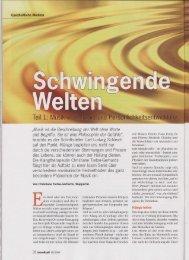 Ganzer Artikel - europäischen Fachverband für Klang-Massage ...