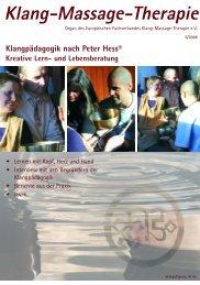 Teil 1 bis S. 30 - Fachverband Klang-Massage-Therapie eV