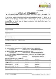 Antrag auf Mitgliedschaft - Fachverband Klang-Massage-Therapie eV