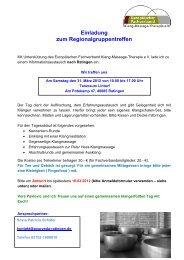 Einladung zum Informationsaustausch - Fachverband Klang ...