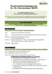 Vorentwurf Programm FVT 2012 - Fachverband Klang-Massage ...