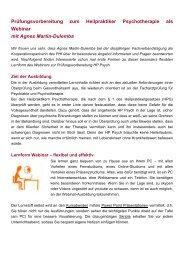 Heilpraktiker Psychotherapie als Webinar - Fachverband Klang ...