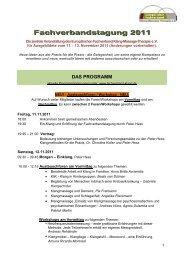 Fachverbandstagung 2011 - europäischen Fachverband für Klang ...