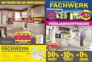 fRühjahRsoffensiVe - Fachwerk Küchen