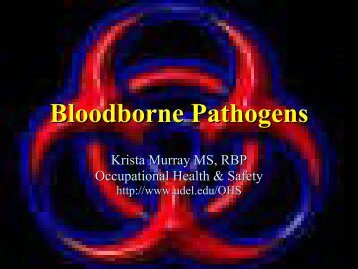 Bloodborne Pathogens - University of Delaware Facilities Website