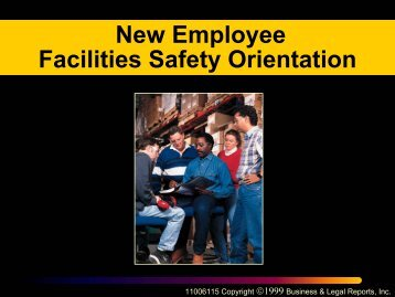New Employee Facilities Safety Orientation