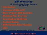 BIM Workshop - UF-Facilities Planning & Construction - University of ...