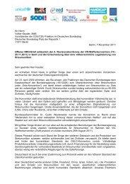 Offener Brief an CDU/CSU - Facing Finance