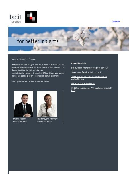 facit-Newsletter 2. Ausgabe Januar 2011