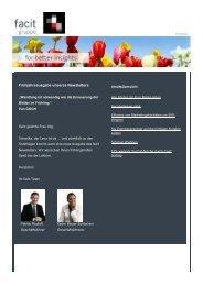 facit-Newsletter 3. Ausgabe April 2011