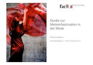 Studie zur Markenfaszination in der Mode - Zusammenfassung - facit