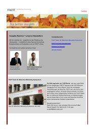 facit-Newsletter 1. Ausgabe Oktober 2010