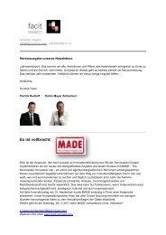 facit-Newsletter 5. Ausgabe November 2011