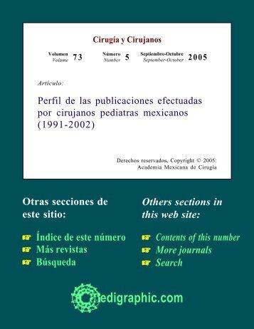 Perfil de las publicaciones efectuadas por ... - edigraphic.com
