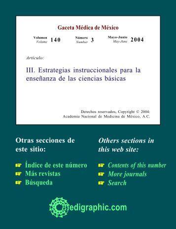 III. Estrategias instruccionales para la enseñanza ... - edigraphic.com