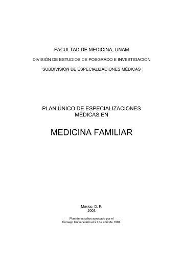plan unico de especializaciones medicas en medicina familiar (puem)