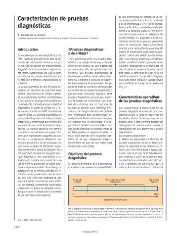 Caracterización de pruebas diagnósticas