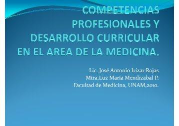 Lic. José Antonio Irízar Rojas Mtra.Luz María Mendizabal P ...