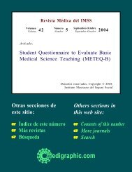 Student Questionnaire to Evaluate Basic Medical ... - edigraphic.com