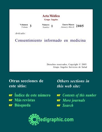 Consentimiento informado en medicina - edigraphic.com